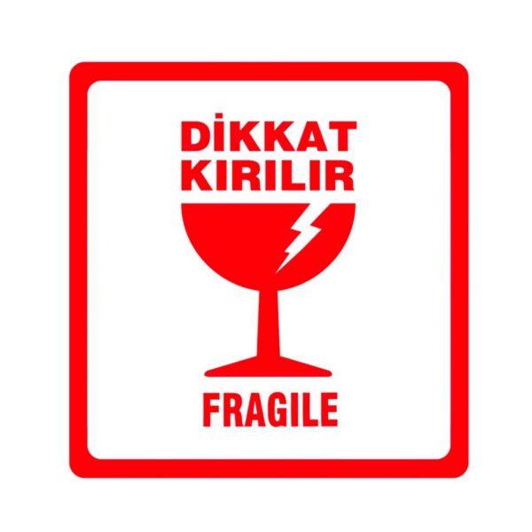 Dikkat Kırılır Etiketi 250 Sarım